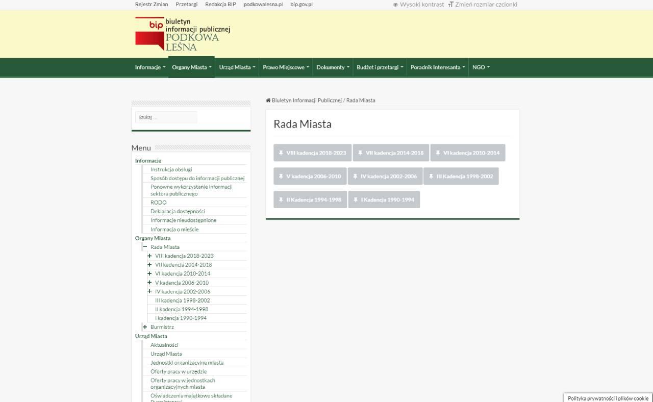 ROAN24 BIP Podkowa Leśna City Council